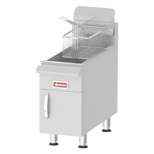 Omcan - Commercial Countertop Propane Gas Fryer With 53,000 Btu And 30 Lb. Oil Capacity - 43089