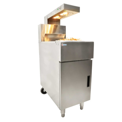Omcan - Chip Dump Station With Heating Lamp - 43260