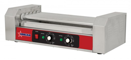 Omcan - 0.7 Kw Hotdog Roller With 5 Rollers - 44131
