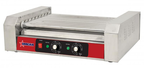 Omcan - 1.2 Kw Hotdog Roller With 9 Rollers - 44133