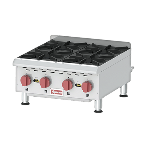 Omcan - Countertop Stainless Steel Gas Hot Plate With 4 Burners - 43734