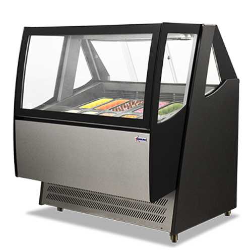 Omcan - Gelato Display Case With 600 L Capacity - 43118