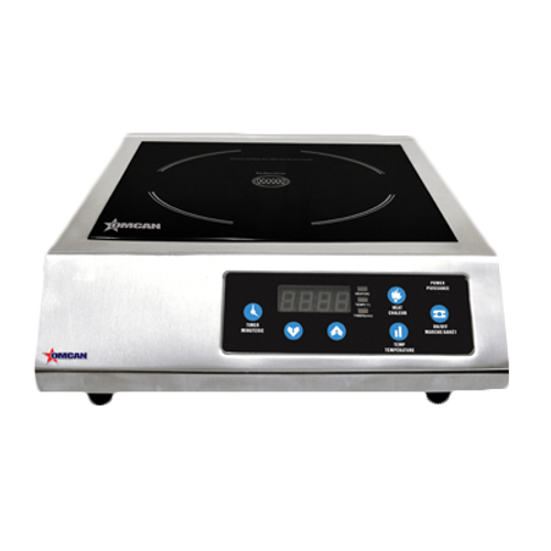 Omcan - 1.8 Kw Stainless Steel Commercial Countertop Induction Cooker - 24429