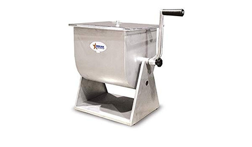 Omcan - Stainless Steel Manual Tilting Mixer With 44-Lb / 7-Gallon Tank Capacity - 19203