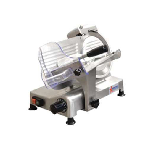 "Omcan - 8"" Belt-Driven Meat Slicer - 31823"