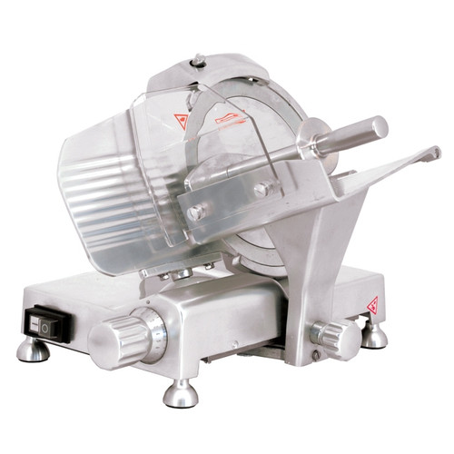 "Omcan - 9"" Belt-Driven Meat Slicer With Blade Locker - 41710"