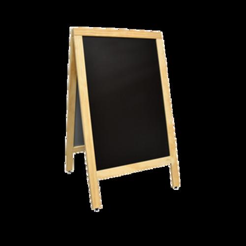 Omcan - A-Frame Sidewalk Menu Chalkboard With Natural Color Frame - 31398