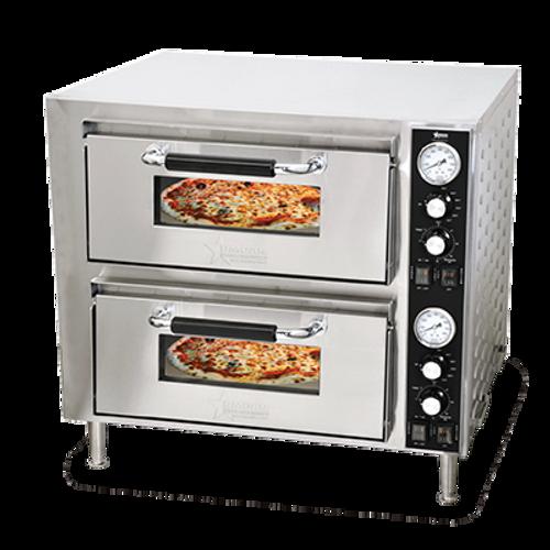 Omcan - Countertop Double Quartz Pizza Oven - 39580