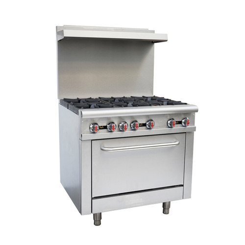 "Omcan - 36"" Commercial Gas Range  Natural Gas - 43151"
