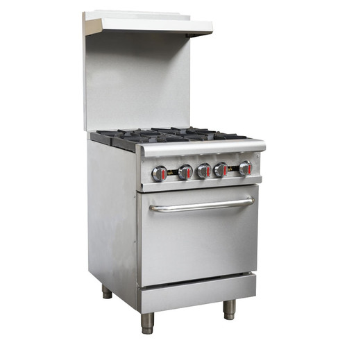 "Omcan - 24"" Commercial Gas Range Natural Gas - 46024"