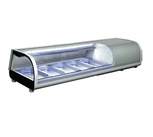 """Omcan - 53"""" Sushi Showcase With 52 L Capacity - 39997"""