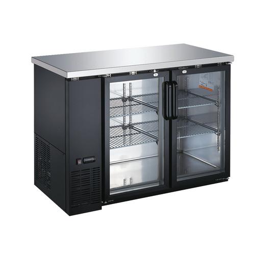 Omcan - 11.8 Cu.Ft Glass Door Back Bar Cooler - 50058