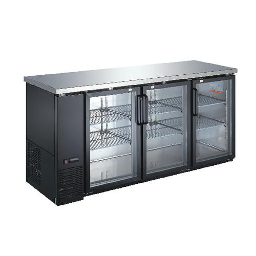 Omcan - 19.6 Cu.Ft Triple Glass Door Back Bar Cooler - 50062