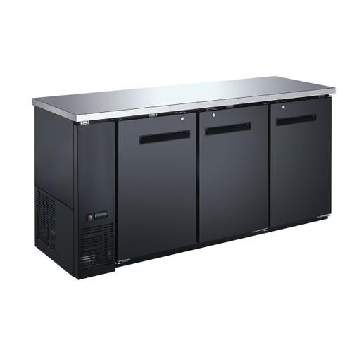"""Omcan - 73"""" Solid 3-Door Bottle Cooler With 19.6 Cu. Ft. Capacity - 50061"""