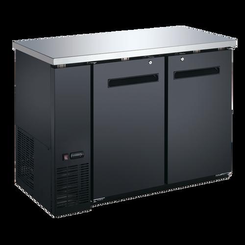 """Omcan - 49"""" Solid 2-Door Bottle Cooler With 11.8 Cu. Ft. Capacity - 37547"""