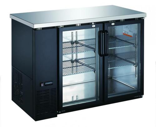 Omcan - 15.8 Cu.Ft Glass Door Back Bar Cooler - 50060