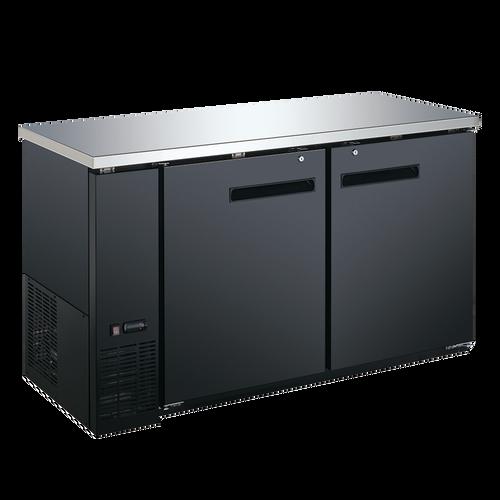 """Omcan - 61"""" Solid 2-Door Bottle Cooler With 15.8 Cu. Ft. Capacity - 37548"""