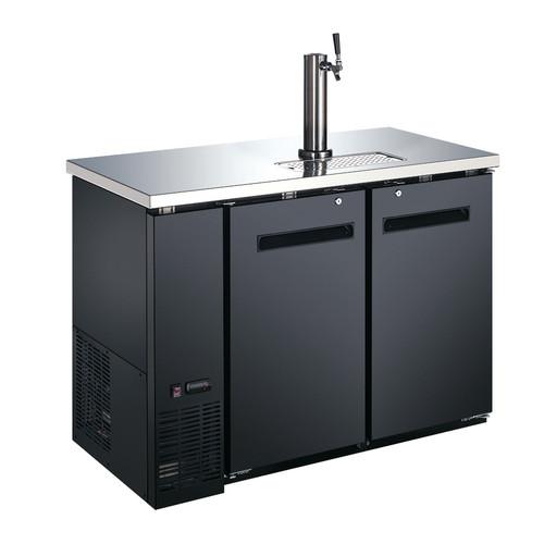Omcan - 11.8 Cu. Ft. Solid Door Back Bar Cooler With Beer Dispenser - 50063