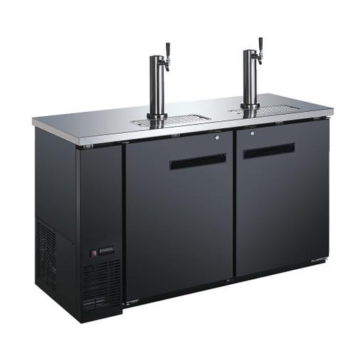 Omcan - 15.8 Cu.Ft Solid Door Back Bar Cooler With Beer Dispenser - 50064