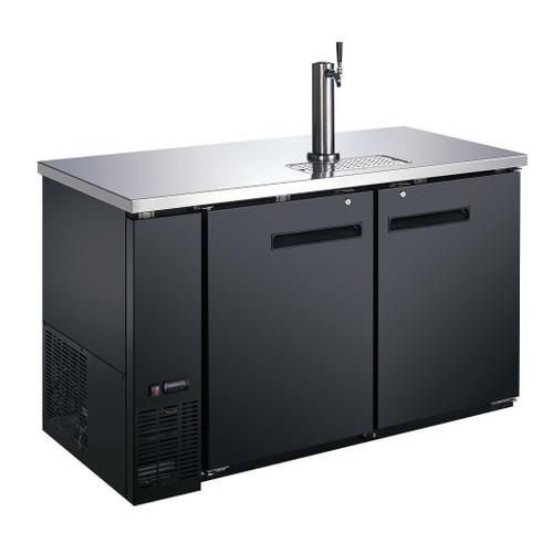 Omcan - 19 Cu. Ft. Double Solid Door Beer Bottle Dispenser With One Tap - 50067