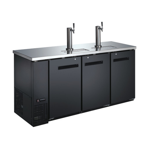 Omcan - 19.6 Cu.Ft. Solid Door Back Bar Cooler With Beer Dispenser - 50065