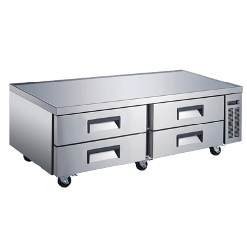 """Omcan - 72"""" Refrigerated Chef Base - 50072"""