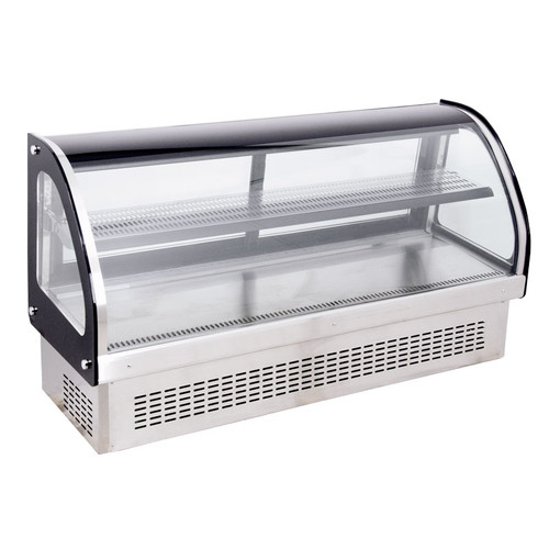 Omcan - Countertop / Drop-In Curved Glass Refrigerated Display With 218 L Capacity - 44262