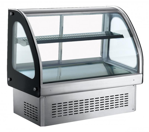 Omcan - Countertop / Drop-In Curved Glass Refrigerated Display With 173 L Capacity - 36514