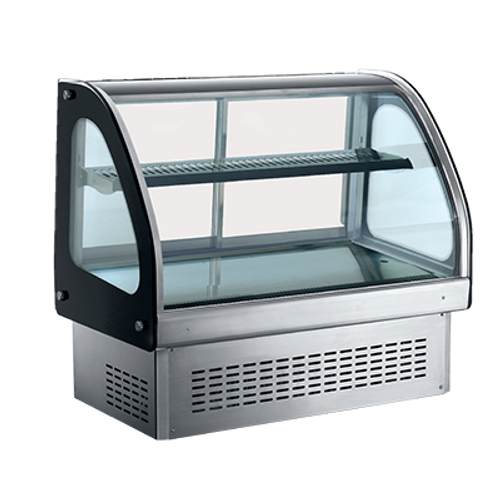 Omcan - Countertop / Drop-In Curved Glass Refrigerated Display With 218 L Capacity - 36515