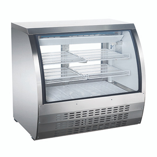 """Omcan - 47"""" Refrigerated Floor Showcase With Stainless Steel Exterior - 50079"""