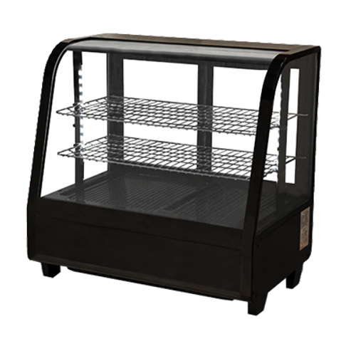 Omcan - 100 L Black Countertop Refrigerated Display - 27155