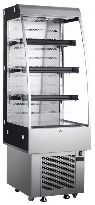 """Omcan - 27"""" Open Refrigerated Floor Display Case With 8.9 Cu. Ft. Capacity - 25825"""