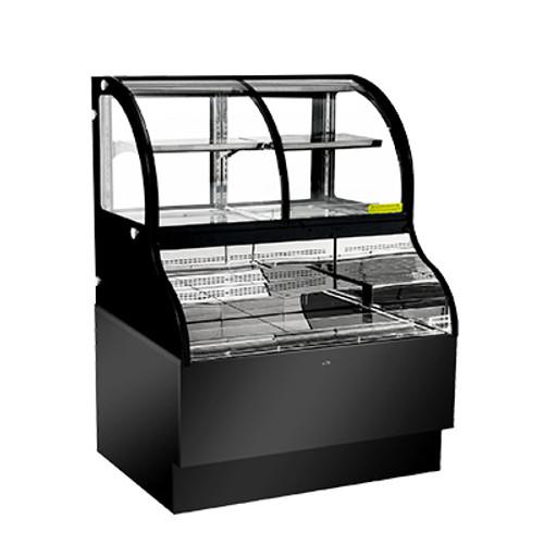 "Omcan - 36"" Dual Service Open Refrigerated Floor Display Case - 43549"