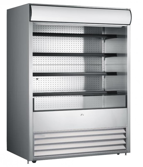 Omcan - Open Refrigerated Floor Display Case With 1050 L Capacity - 43460