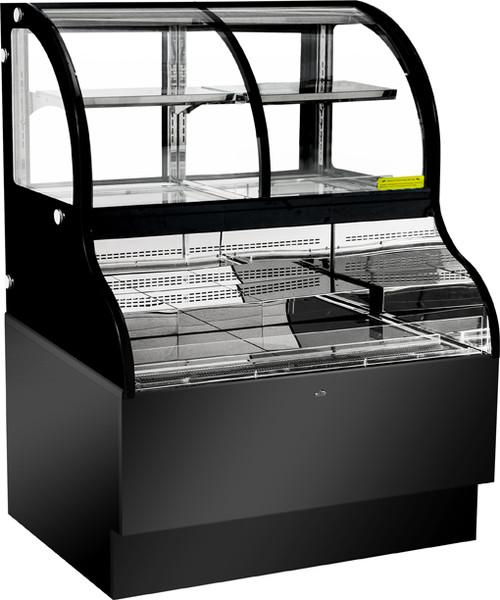 "Omcan - 48"" Dual Service Open Refrigerated Floor Display Case - 43550"