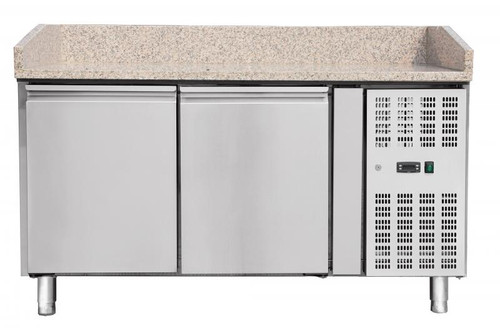 """Omcan - 59"""" Granite Top Refrigerated Pizza Prep Table - 39592"""