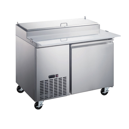 """Omcan - 50"""" Refrigerated Pizza Prep Table With 1 Door - 50042"""