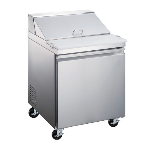 """Omcan - 28"""" Refrigerated Prep Table - 50045"""