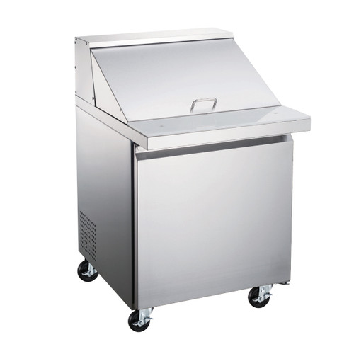 """Omcan - 27.5"""" Mega Refrigerated Prep Table With 1 Door - 50049"""