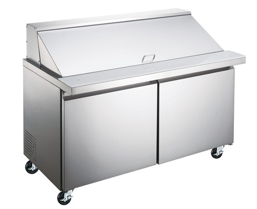 """Omcan - 47"""" Mega Refrigerated Prep Table With 2 Doors - 50050"""