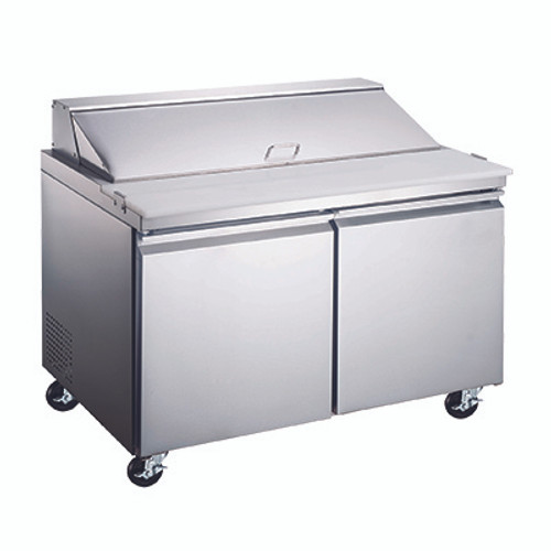 """Omcan - 60"""" Refrigerated Prep Table - 50047"""