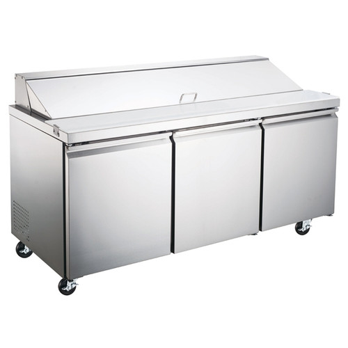 """Omcan - 70"""" Refrigerated Prep Table - 50048"""