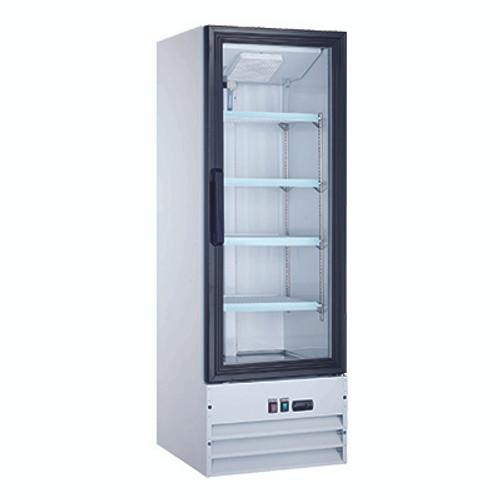 """Omcan - 22"""" Single Door Glass Refrigerator - 50033"""