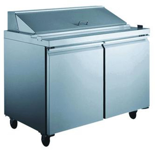 Omcan - 15.12 Cu. Ft Refrigerated Prep Table With 2 Door - 24274