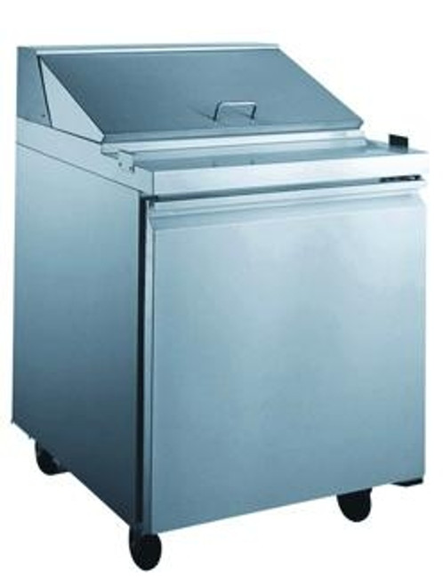 """Omcan - 27"""" Single Door Refrigerated Prep Table With 5.65 Cu. Ft. Capacity - 24265"""