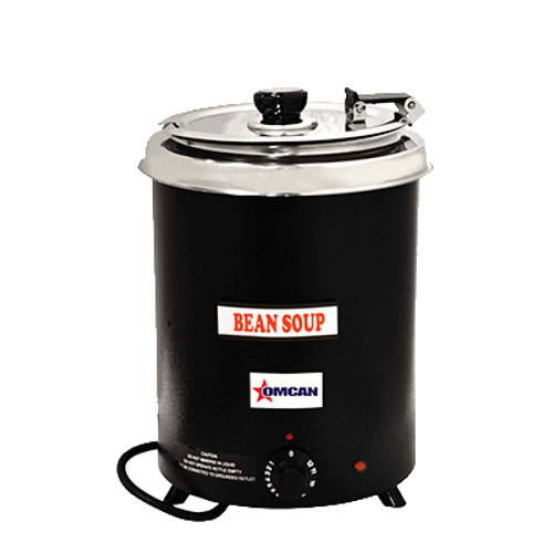 Omcan - Black Soup Kettle With 6 Qt Capacity - 41080