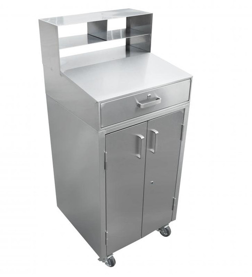 """Omcan - 25"""" Stainless Steel Mobile Receiving Desk - 43470"""