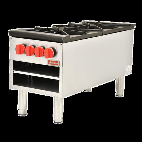 Omcan - Dual Gas Stock Pot Range With 200,000 Btu - 37529