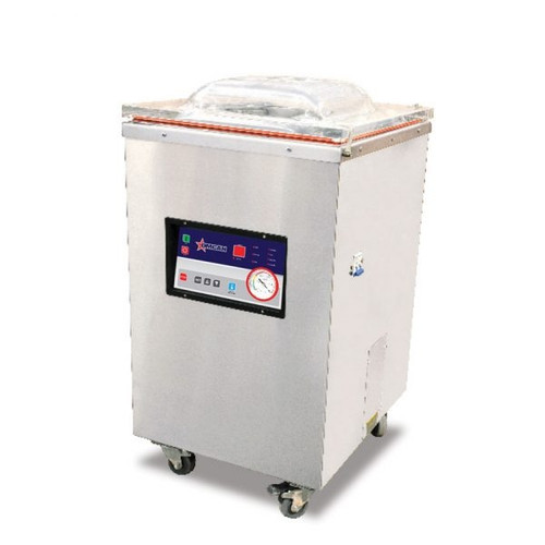 """Omcan - Heavy-Duty Vacuum Packaging Machine With 1.2 Hp And 16"""" Double Seal Bar - 24081"""