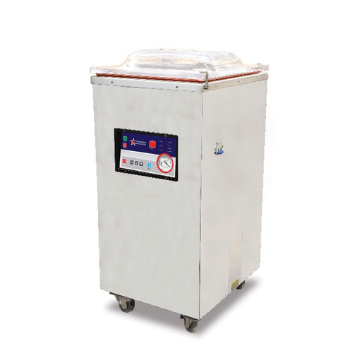 """Omcan - Floor Model Heavy-Duty Vacuum Packaging Machine With 1.2 Hp And 15"""""""" Single Seal Bar - 24082"""